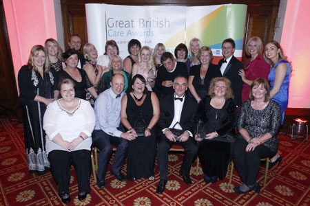 The team celebrate their success at the Great British Care Awards. Photo:Cheshire West and Cheshire