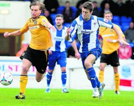 Craig Lindfield, seen here against Cambridge, scored Chester's equaliser. Photo: Flickr/leaderliversport