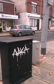 Vandal makes his mark all of the city (Pic - Lisa Jones)