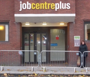 Alison outside of the Job Centre Plus, City Road. (picture- Amy Holland)