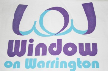 The Window on Warrington project logo was printed on to t shirts for the participants. Photo: Alexandra Murdey