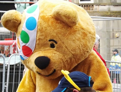 Pudsey, the Children in Need mascot, has been out in full force across the country. Picture:Flickr/markyharky