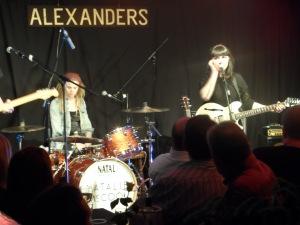 Natalie McCool performing live at Alexander's bar