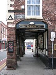Outside The Pied Bull, Chester