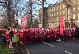 Santa's gearing up to start the dash (pic: Countess of Chester fundraising team)