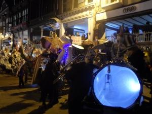 Karamba Samba leading Chester's Midwinter Watch Parade.