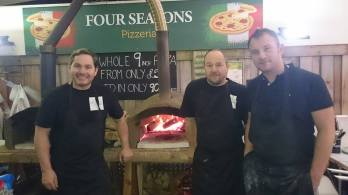 Wayne and the Four Seasons team putting on a brave face