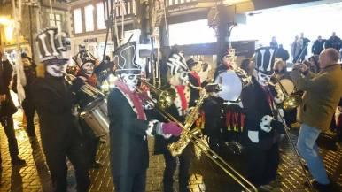 Karamba Samba leading the parade through Chester