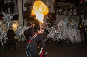 Fire breathing to finish off the festivities. Pic : Yourwestcheshire