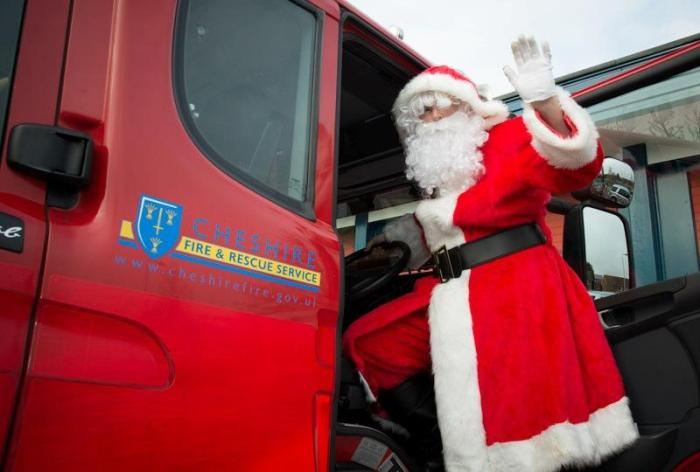 'Tis the season to be safe as well as jolly Pic: Cheshire Fire and Rescue Service