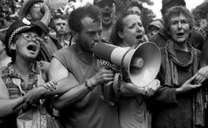 Anti fracking protest, Balcombe