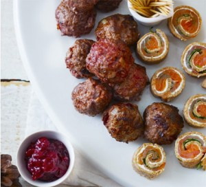 Cranberry infused meatballs with fruit dip Pic- BBC Goodfood