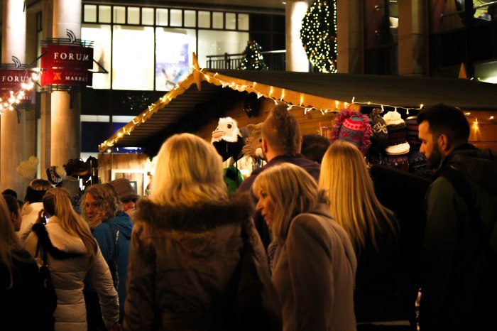 Shoppers left disappointed as Christmas markets close early. Pic: Paige Edge.