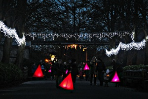Lanterns show you the way to meet Santa Pic Chester Zoo